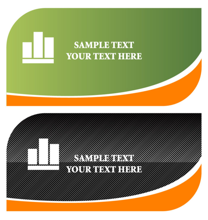 free vector Cards and logo template vector material